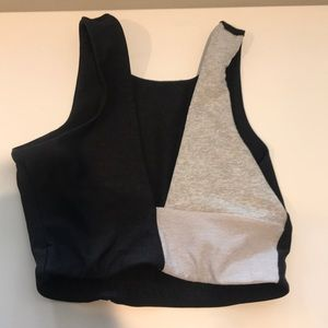 Outdoor voices two tone sports bra/crop